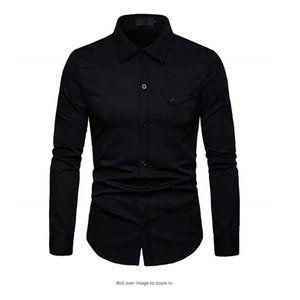 Mens Casual Regular Fit Long Sleeve